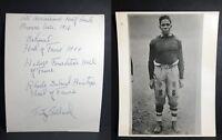 Signed Fritz Pollard Photo AUTOGRAPH LOA 1st African American NFL Coach HOF AUTO