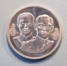 1995 King Bhumibol Adulyadej Rama IX and V Thailand 600 Baht Silver Coin Audit
