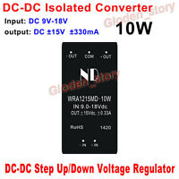 DC-DC Converter 9V-18V 12V to ±15V 10W Buck Boost Step Up / Down Isolated Module