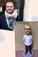 "100% handmade self customized polymer clay figurine -gift (8"") 20CM from China"