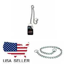 20 Inch Med / Large Dog Choke Chain - Collar - Obedience Collar - New - SPEC TUE