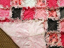 ALL MINKY - NEW Super Soft LUXURY Handcrafted Rag Quilt for Your PAWSOME PAL!