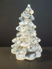 "Mosser Glass CRYSTAL FRENCH OPALECENT Medium 5.5"" CHRISTMAS TREE Figurine"