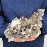 4.73LB Natural smoky Quartz Cluster Mineral Crystal point Healing MDB3705