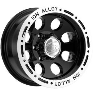 "Ion 174 15x10 6x5.5"" -38mm Black Wheel Rim 15"" Inch"