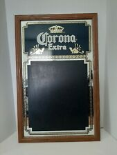 """Corona Extra Framed Mirrored Chalk Board 28"""" X 18"""" Man Cave Beer Sign"""