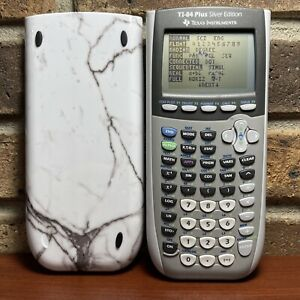 Texas Instruments TI-84 Plus Silver Edition Graphing Calculator TESTED DARK SPOT