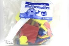 60 Foam Math Manipulatives - Colored Shapes with Flexible Ruler