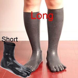 Waterproof Socks Latex Rubber Foot Skin Cover Hose Stockings Black Long/Short
