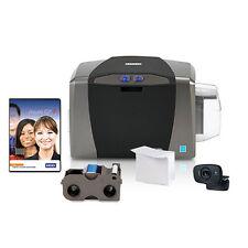NEW ID Card Maker - Fargo DTC1250e Single-Side ID Card Printer + Supplies