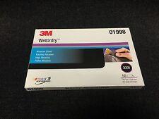 """3M 3000 GRIT Wet or Dry Black Sandpaper 5.5""""x 9"""" Sanding (Sheet 50/box) 3M-01998"""