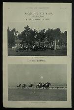 Horse Racing Flemington Australia 1897 2 Page Photographic Study
