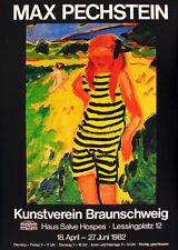MAX PECHSTEIN - Ausstellungsplakat - Kunstverein Braunschweig