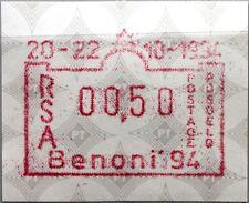 RSA SÜDAFRIKA SOUTH AFRICA 1994 ATM 13 0,50 BENONI 94 Automatic Stamps MNH