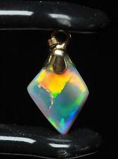 Australian Black Opal Gemstone, Lightning Ridge, Harlequin pattern, Gold, 1.5 ct