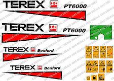 TEREX BENFORD PT6000 DUMPER DECALS SAFETY DECALS AND GREEN DASH