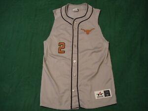 TEXAS LONGHORNS #2 ~ NCAA Baseball Throwback Jersey ~ Adult Mens Small S