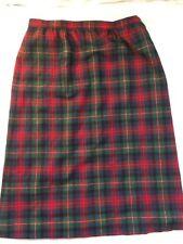 Pendleton Authentic Mac Lennan Tartan Size 16 Womens Skirt Wool Vtg