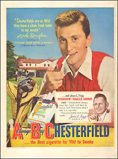 1950 Vintage ad for Chesterfield Cigarettes with Kirk Douglas Actor  (052317)
