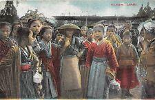 POSTCARD  JAPAN  SOCIAL  HISTORY     Villagers
