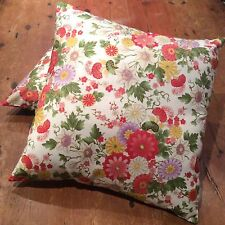 Oriental Floral, Reversible, Quality Hand Made Cushion Cover 45cm x 45cm