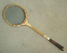 """Vintage MANHATTAN SQUASH CLUB NYC Badminton Squash Racquet Racket 27"""" Wood Rare"""