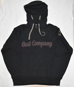 Best Company 1982 Felpa Cappuccio Hoodie Hoody 692011 in Nero Various Sizes