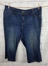 Lane Bryant Stretch Blue Jeans capris cropped Plus size 24 cotton blend AX23