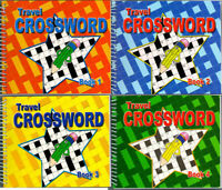CROSSWORD TRAVEL BOOKS 170 PUZZLES PER A5 BOOK SPIRAL BOUND SERIES CROSSWORD