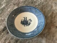 CURRIER AND IVES BLUE by Royal (USA) SAUCER FOR COFFEE CUP, Discontinued