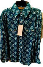 Wrangler Premium Patch Bl Girls Long Sleeve Button Down Western Shirt Medium NWT