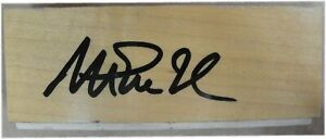Magic Johnson Signed Auto approx 1.5 X 4.5 Inch Game Used Forum Floor Beckett