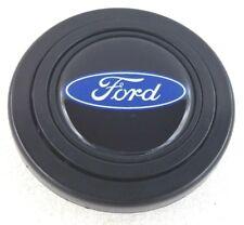Ford blue logo steering wheel horn push button. Fits Momo Sparco OMP Nardi etc