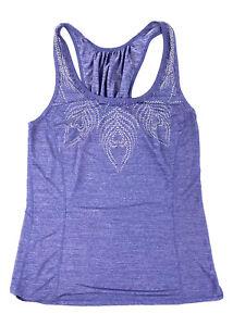 LULULEMON Racerback Tank Top Shirt Womens Size 6 Heather Purple Blue