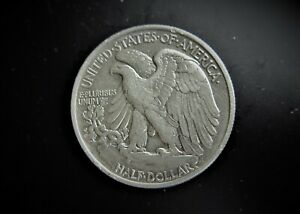 USA  SILVER WALKING LIBERTY 1/2 DOLLAR 1942  / SNIFF'S  ANCIENT COINS T-8