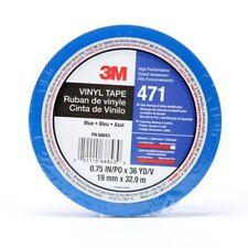 New listing 3M Vinyl Tape 471 Blue, 3/4 in x 36 yd, 3Mi-7000047462