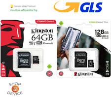 Kingston MicroSD 64GB/128GB Class10 Canvas Scheda Memoria Esterna per Cellulare