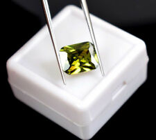 Zircon Natural Verde 5.00 Cts VVS Certificado IGL Gemstone Octagon Cut Cambodia