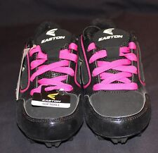 5f826bda07c Easton Girl s Cleats Black and Pink Size 2