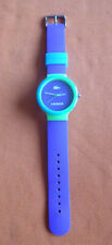 Herren-Armbanduhr - Lacoste - Plastikarmband - lila mit grün und hellblau