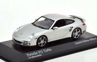 1:43 MINICHAMPS 2006 PORSCHE 911 (997) Turbo silver LE 500 pcs ck-modelcars Excl