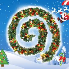 2.7m Weihnachten GROSS M Luxus Aufleuchtend LED vor beleuchtet Girlande verziert