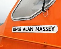 Model Lifeboat RNLB Style Name Plate Lettering With Shadow Vinyl Decal Set BECC