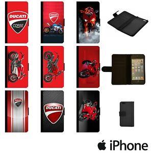 DUCATI MOTO GP LOGO CORSE FLIP WALLET PHONE CASE COVER FOR APPLE iPhone DUCW00