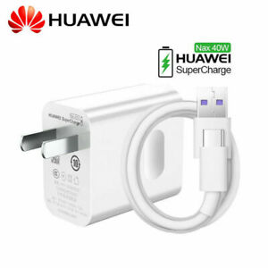 Original Max 40W Super Fast Charger and Type-C Cable For HUAWEI Mate 20 P30 Pro