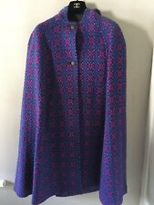 Beautiful 100% Welsh Wool Hooded Cape