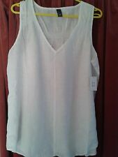 Linen V Neck Fitted Tops & Shirts Size Plus for Women