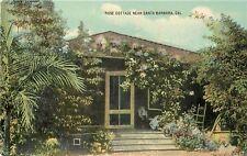 OLD DB Postcard CA F035 Rose Cottage Near Santa Barbara Bungalow Arts and Crafts