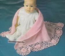 BABY SHAWL IRISH ROSE  - 3ply or 4ply- COPY Baby crochet pattern
