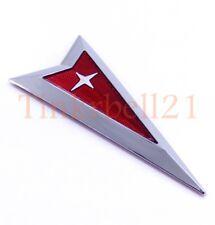 05-10 Pontiac NEW Front Bumper Grille Arrow Head Emblem Chrome Red Logo Badge